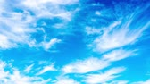 하늘 : Clouds float across the sky. timelapse 무비클립