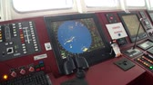 benzersiz : Antarctica - 10 January 2015: Control Panel of research expedition ship vessel of Ocean. Unique landscape of nature. Wildlife on background of white snow coast desert.