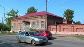 passar : Alapaevsk, Russia - 17 July 2012: Building, which contained relatives of Nicholas II before their execution. Historical religious place of Remembrance of Representatives of Russian Imperial House. Stock Footage