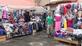 imperador : Alapaevsk, Russia - 17 July 2012: Clothing market in provincial town of Urals. Life of ordinary people in province.