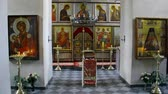 perdition : Alapaevsk, Russia - 17 July 2012: Icon in monastery of New Martyrs at venue death of Romanov. Religious relic is located in building on site of executions of Elizabeth Feodorovna.