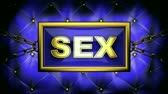 sex : sex  on velvet background Stock Footage