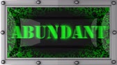 abundante : abundant announcement on the LED display