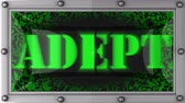 adepto : adept announcement on the LED display
