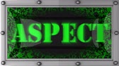 aspekt : aspect announcement on the LED display