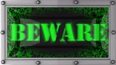 capa dura : beware  announcement on the LED display