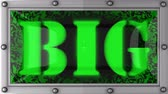 capa dura : big announcement on the LED display Stock Footage
