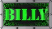 billy : billy   announcement on the LED display Stock Footage