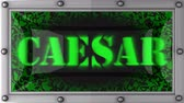 císař : caesar  announcement on the LED display