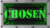 escolhido : chosen  announcement on the LED display