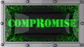 compromise : compromise  announcement on the LED display