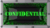 confidencial : confidential  announcement on the LED display