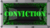 conviction : conviction  announcement on the LED display Stock Footage