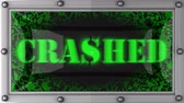 crashed : crashed announcement on the LED display