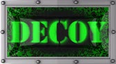 decoy : decoy  announcement on the LED display