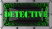 detetive : detective  announcement on the LED display Stock Footage