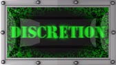 takdir : discretion  announcement on the LED display