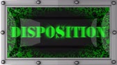 disposição : disposition   announcement on the LED display