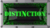 distinction : distinction   announcement on the LED display Stock Footage