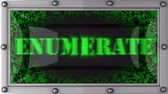enumerate : enumerate  announcement on the LED display