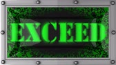 asmak : exceed  announcement on the LED display