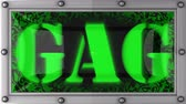gag : gag   announcement on the LED display