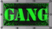quadrilha : gang   announcement on the LED display