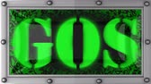 gêmeos : gos   announcement on the LED display Stock Footage