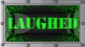 árido : laughed  announcement on the LED display