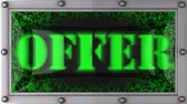 offers : offer  announcement on the LED display Stock Footage