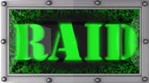 razzia : raid   announcement on the LED display