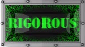 rigorous : rigorous  announcement on the LED display Stock Footage