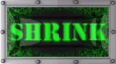 shrink : shrink  announcement on the LED display