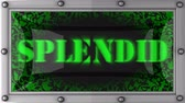 esplêndido : splendid  announcement on the LED display Stock Footage