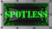 spotless : spotless  announcement on the LED display