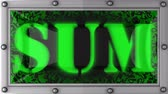 soma : sum  announcement on the LED display Vídeos