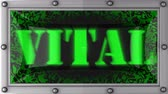 vital signs : vital  announcement on the LED display