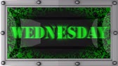 среда : Wednesday  announcement on the LED display