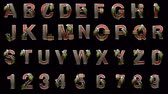 abstruse : loop alpha matted military alphabet set Stock Footage