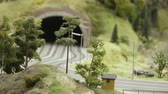 grand maket : Road tunnel in the city Stock Footage