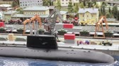 maket : Nuclear submarine in dock