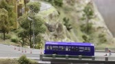 maket : Passenger bus on the bridge