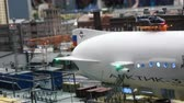 maket : Aerostat balloon flying in the terminal Stock Footage