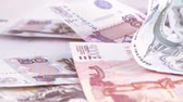 consecutivo : Variety of bills Russian rubles Stock Footage