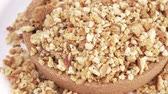 bakery : Cookie crumbs and bread Stock Footage