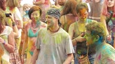 ethno : People enjoy Holi Colors Festival