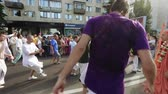 street parade : Ratha Yatra in city of Dnepr