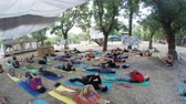 etno : Group hatha yoga on ethno esoteric festival