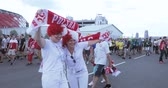 multirracial : Football fans of Poland