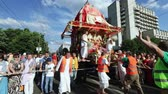праздник : Ratha Yatra in city of Dnepr